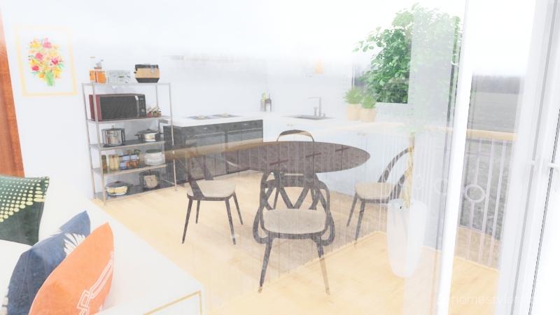 un joli appartement Interior Design Render