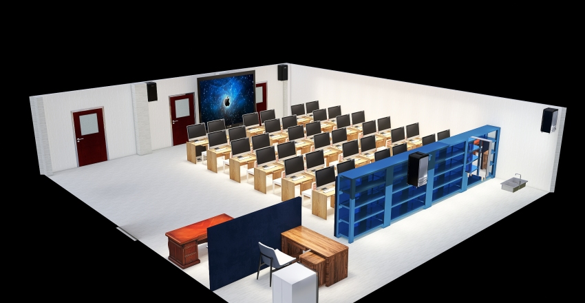 Copy of Computer Room (542) Plan 4 Interior Design Render
