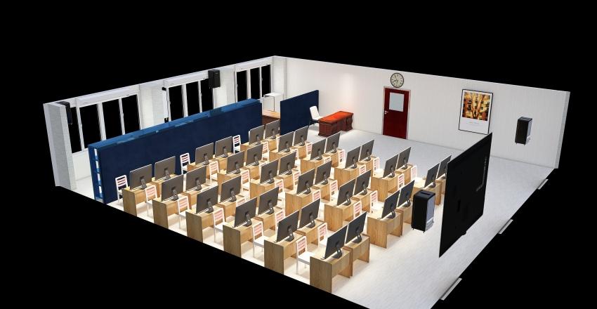 Copy of Copy of Computer Room (542) Plan 2 Interior Design Render