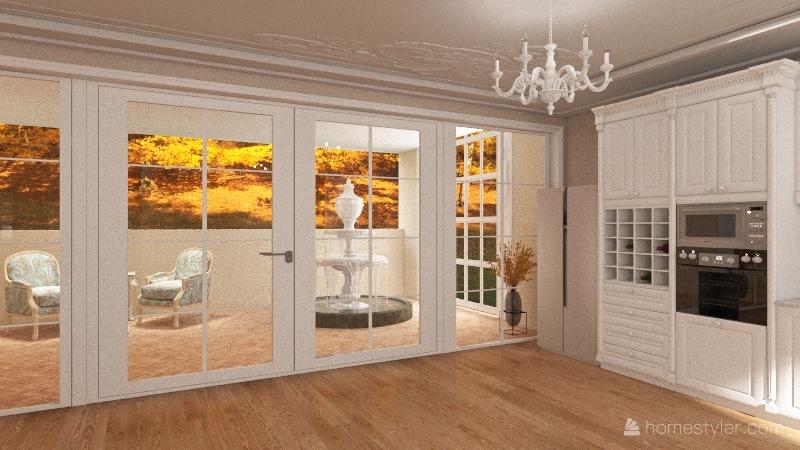 Classic house- 3 bedrooms/3 bathrooms Interior Design Render