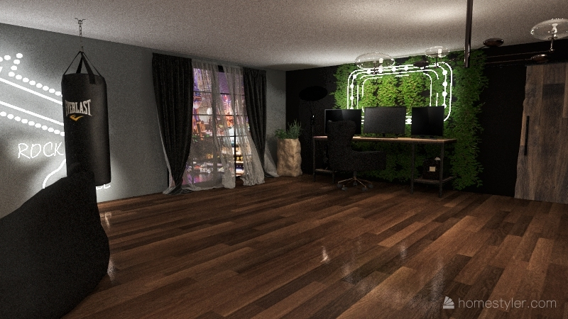 gamer room Interior Design Render