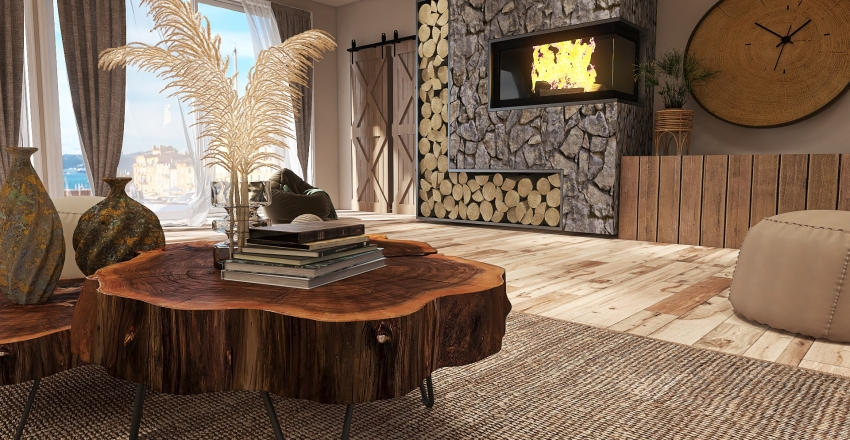 By the Beach Interior Design Render