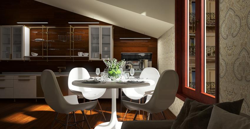 Bruges Loft Interior Design Render