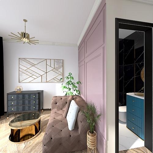 Projekt1zielen i złoto Interior Design Render