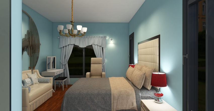Two Bedroom Tiny House Interior Design Render