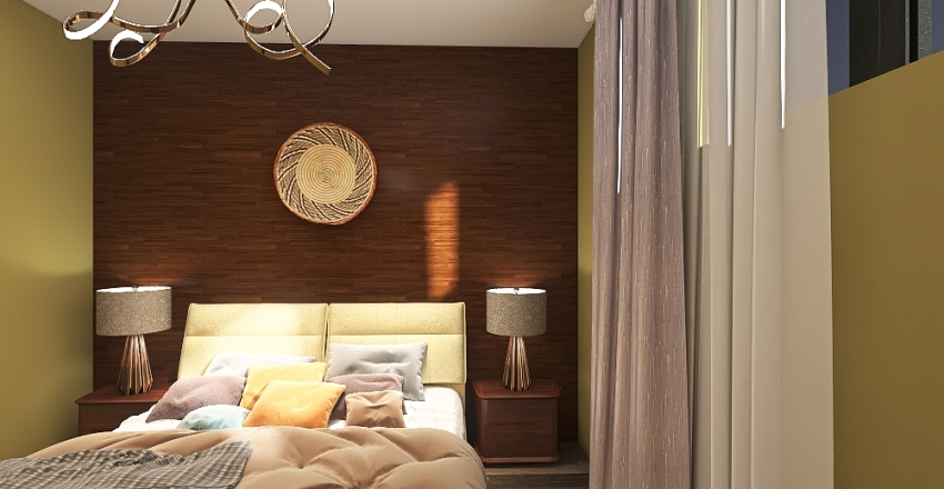 Single family suburban home Interior Design Render