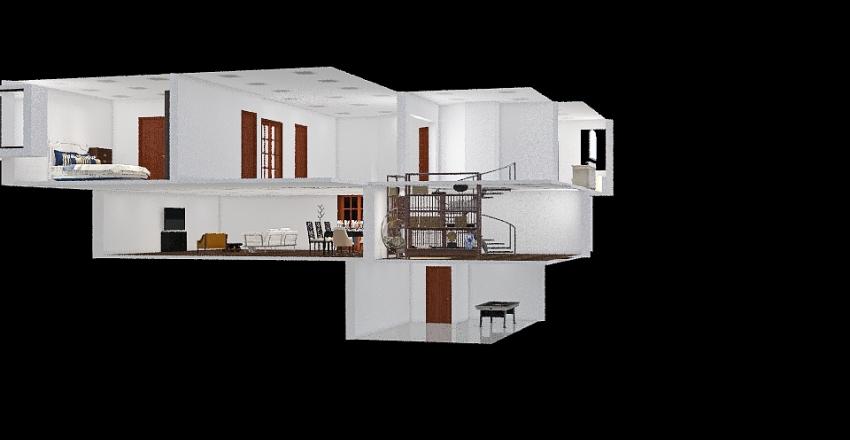 top floor 3500ft^2 home Interior Design Render