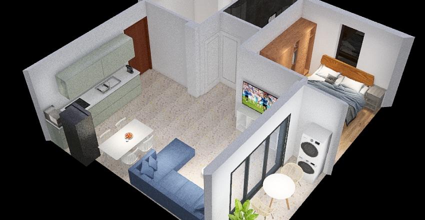 Trumpeldor 44 Interior Design Render