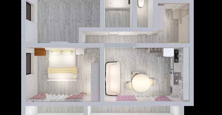 Квартира смена детской Interior Design Render