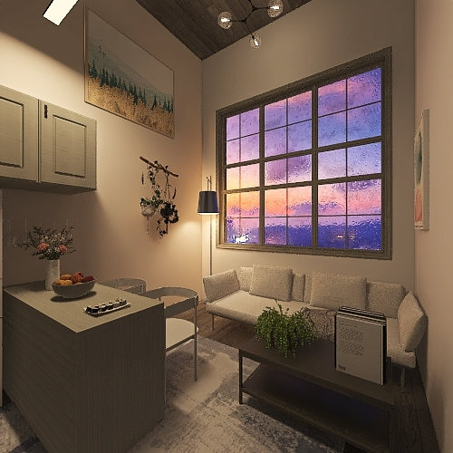 Mikas Tiny Home Interior Design Render