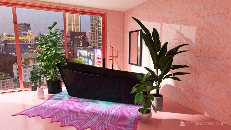 barbie pink Interior Design Render
