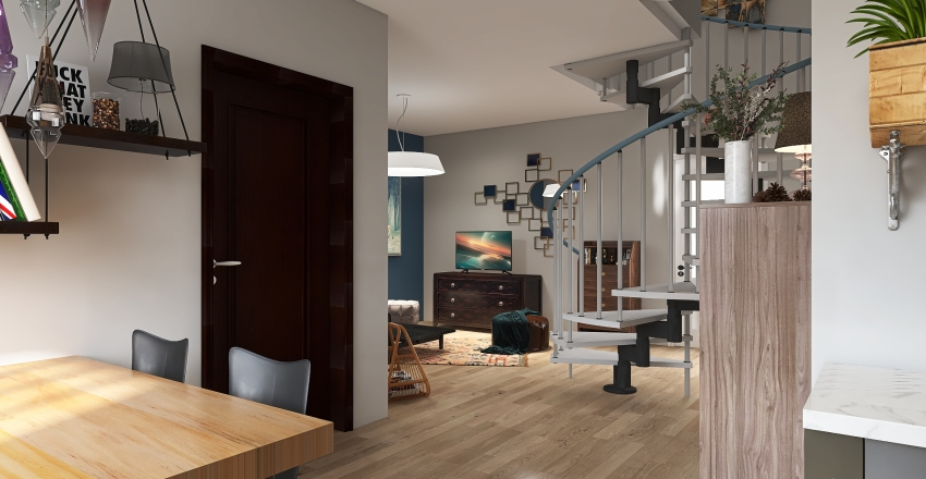 Two Level Apartment Interior Design Render