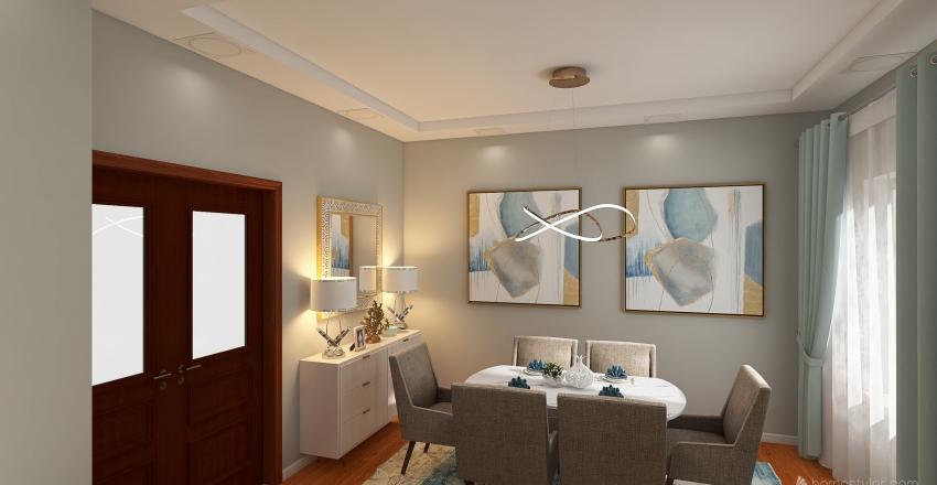 Sala Escandinavio Interior Design Render