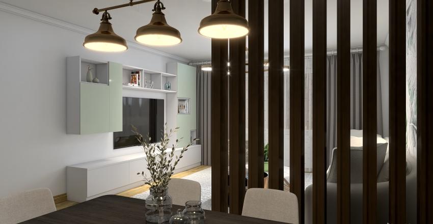 Living & dining Interior Design Render