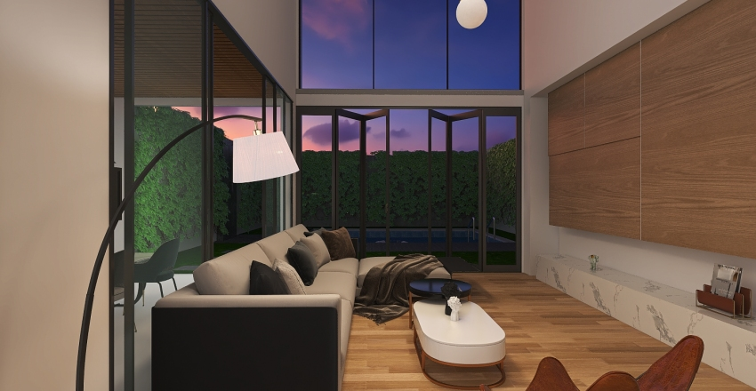 Multi Floor Demo 1 - Villa with outdoor garden Interior Design Render