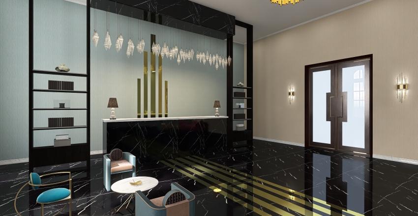 Вестибюль гостиницы Interior Design Render