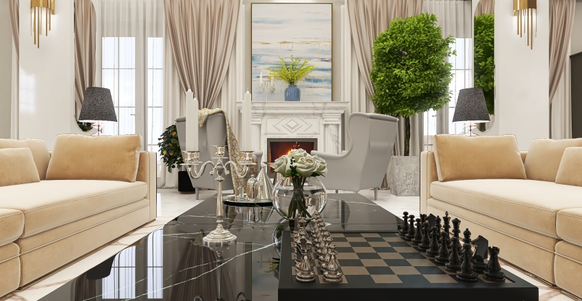 Neoclassic is no time Interior Design Render