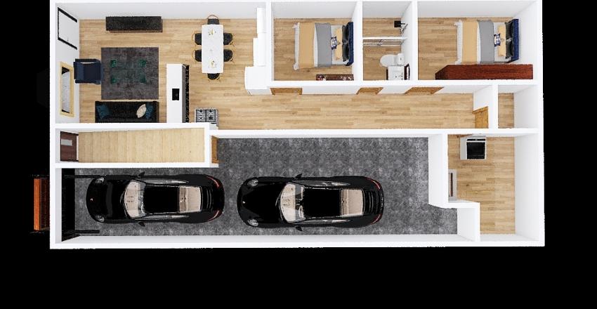 Casa para alugar pronta Interior Design Render