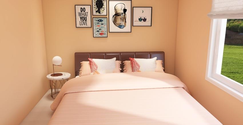 Casa com 2 Quartos Moderna Interior Design Render