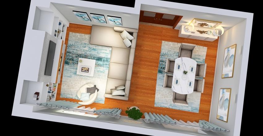 Sala Comum Interior Design Render