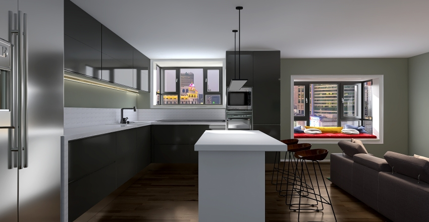 Nick's Kitchen Redesigned  Interior Design Render