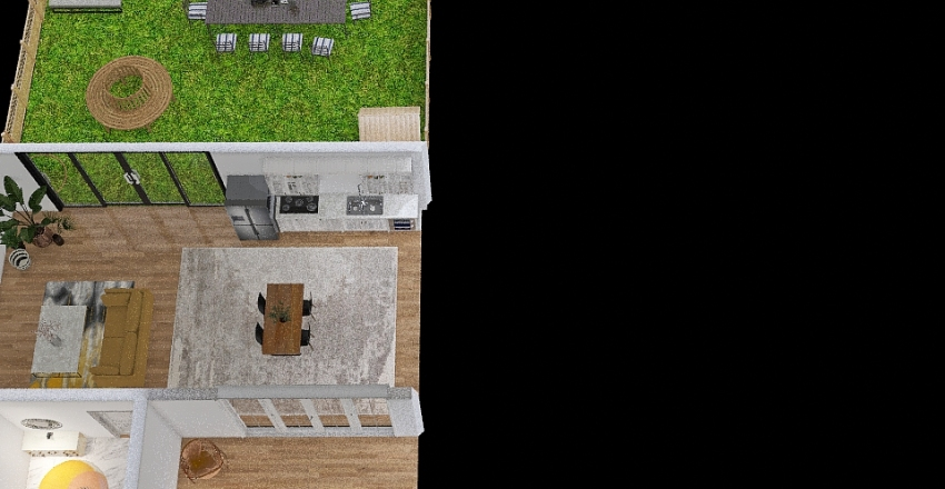 sheek-oneperson-home Interior Design Render