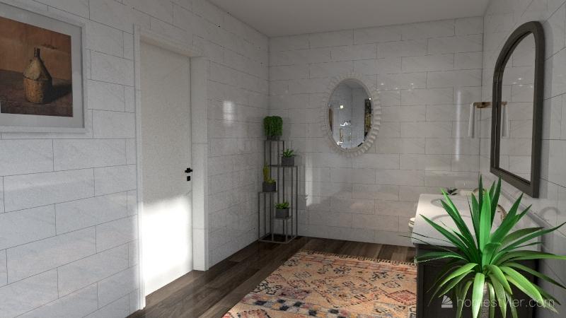 Redesign of Noah's Bathroom Interior Design Render