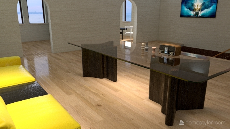 Earthy Tones House Interior Design Render