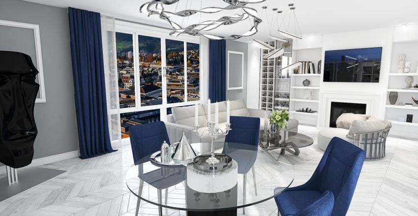 Granat we wnętrzu Interior Design Render