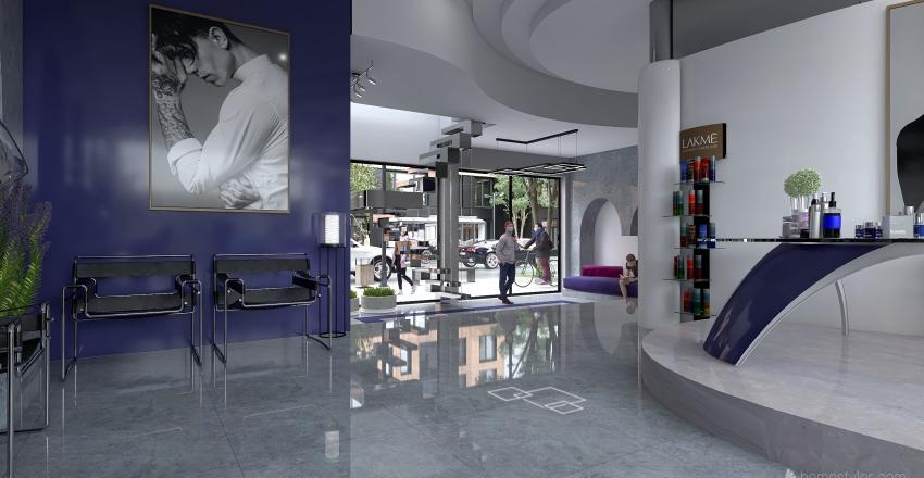 Salón de peluquería DR Interior Design Render
