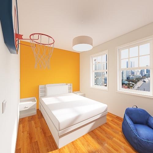 Redesign MJS - Royal's Bedroom Interior Design Render