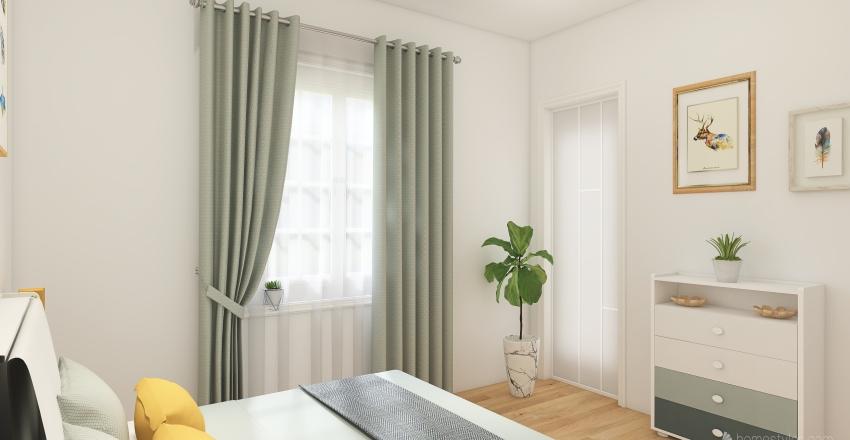 Real Floorplan 2021 (3bed + walk in closet) Interior Design Render