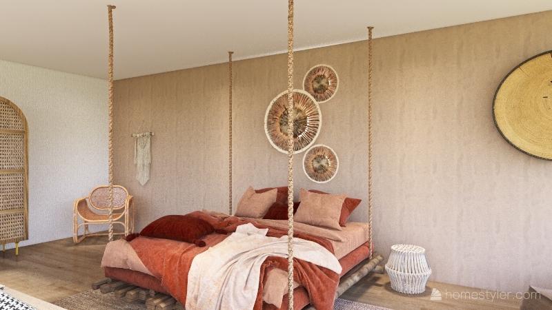 Wabi Sabi Room Interior Design Render