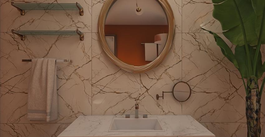 Yoni's Redesigned Master Bathroom - Anaya Parikh Interior Design Render