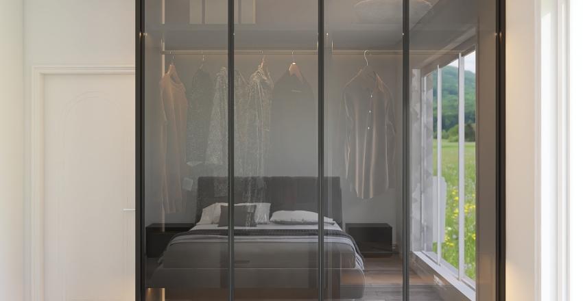 Simple bedroom Interior Design Render