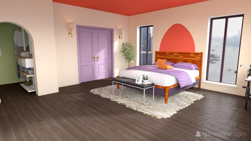 Abby's room Interior Design Render