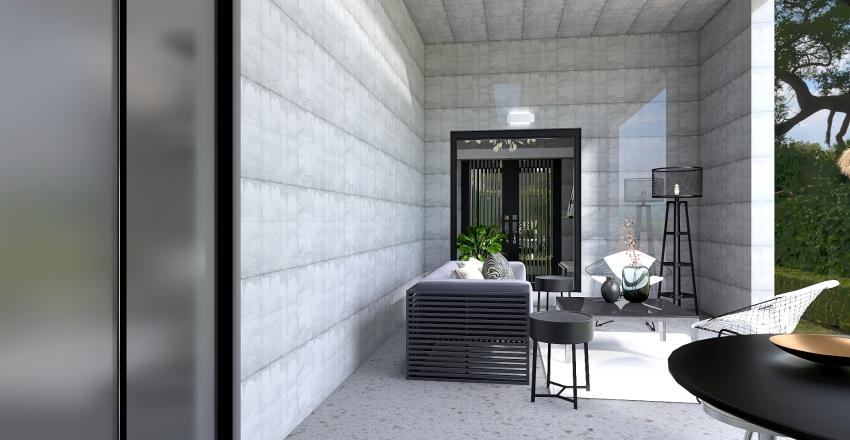Bauhaus Inspired, double story. Interior Design Render