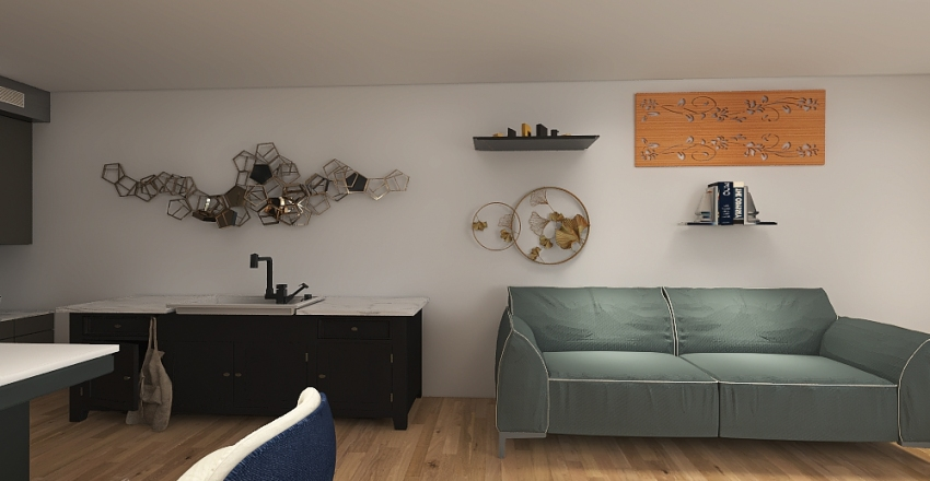 Jana's Redesign of Dylan's Dream House Project Interior Design Render