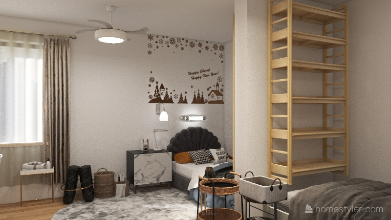 colloge dorm Interior Design Render