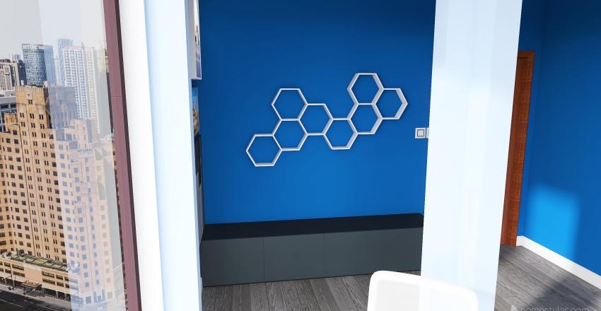Home Office Space - Special Purpose Room Interior Design Render