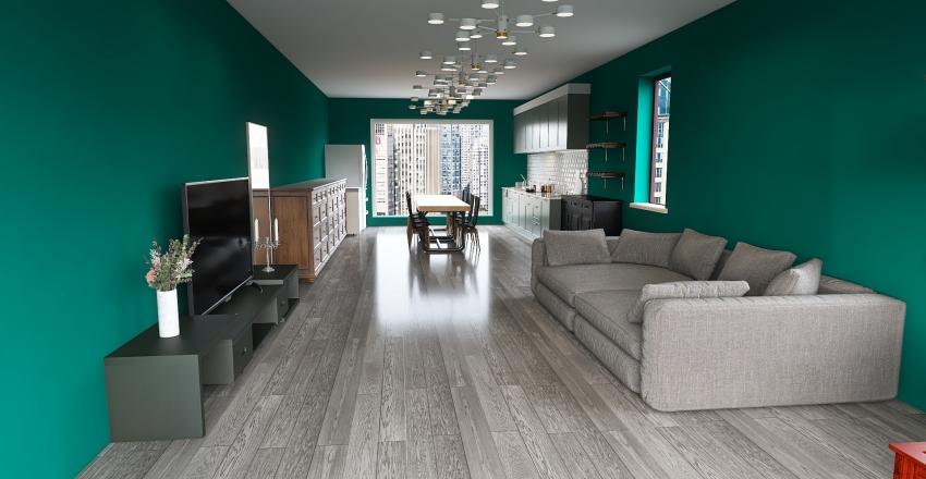 Small Camper Interior Design Render