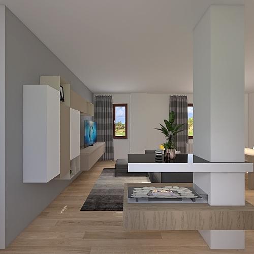 Roma_soggiorno Interior Design Render