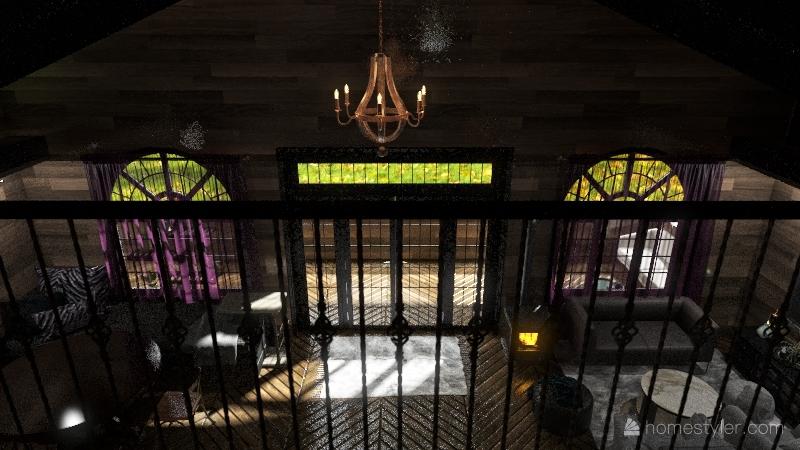 A frame Interior Design Render