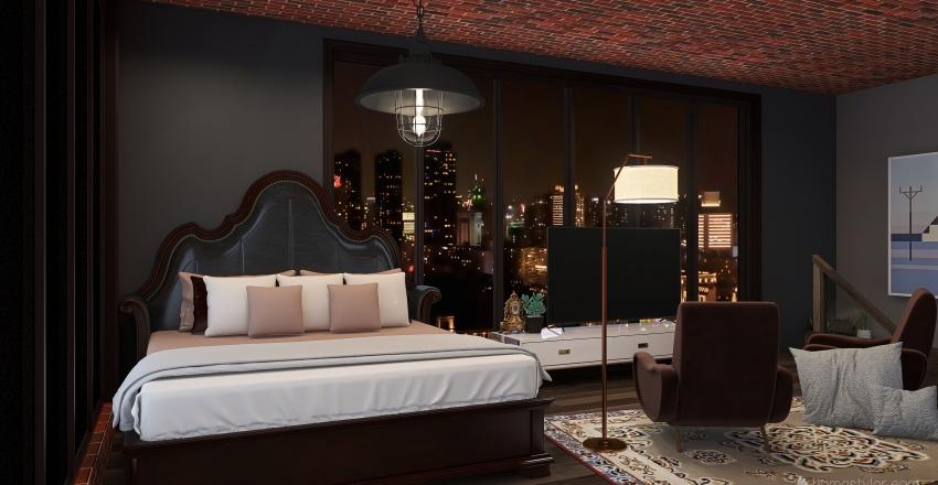 NYC Loft Interior Design Render