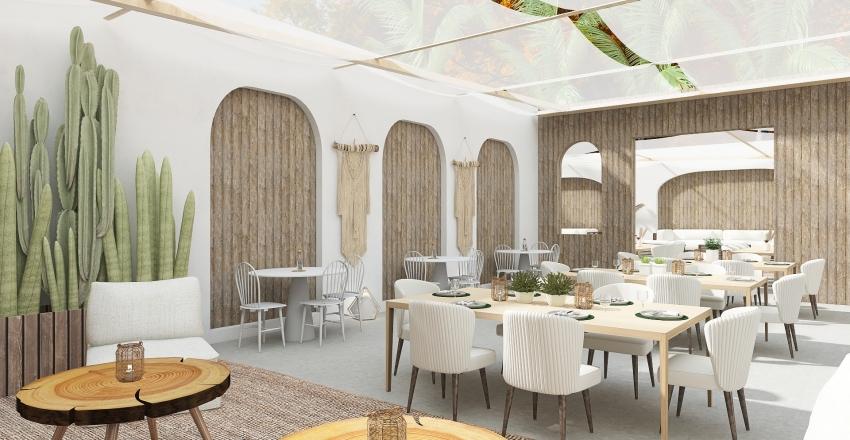 Villa Bella Hotel Dining Interior Design Render