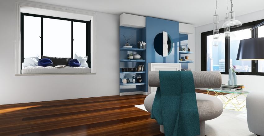 Color coded Interior Design Render