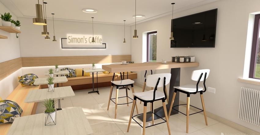 Simon's Coffe Interior Design Render