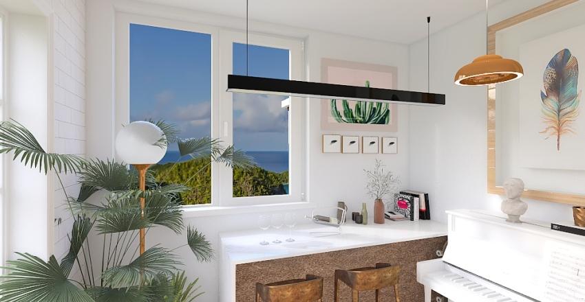Contemporary Island Getaway Interior Design Render