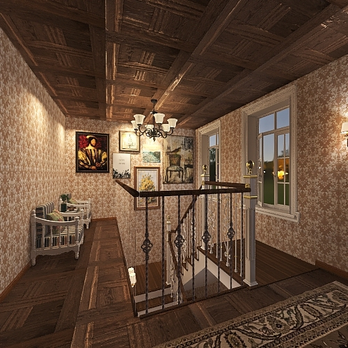 Farm House/Country Cottage Interior Design Render
