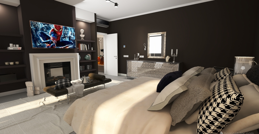 Modern, Glamour and Iconic House Interior Design Render